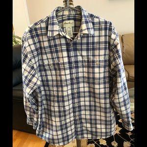 Eddie Bauer Men's Mid-weight Cotton Shirt, Large